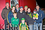 Kerry supporters welcome home the Kerry team to Killarney on Monday night front row l-r: Tracey, Conor, Mike, Darragh, Catherine and Eoin Brosnan, back row: Paddy O'Sullivan, Seamus Casey, Pat and Denny McGillicuddy..