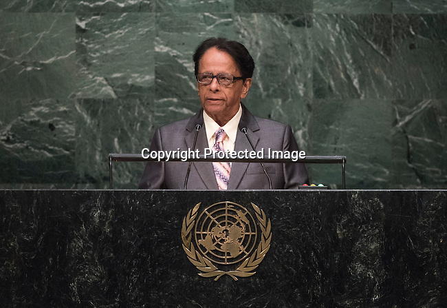 HE REPUBLIC OF MAURNTIUS<br /> H.E. Sir Anerood JUGNAUTH Prime MinisterGeneral Assembly 70th session 25th plenary meeting<br /> Continuation of the General Debate
