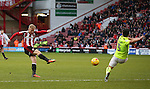 Mark Duffy of Sheffield Utd has a shot during the English League One match at Bramall Lane Stadium, Sheffield. Picture date: December 31st, 2016. Pic Simon Bellis/Sportimage