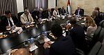Palestinian Prime minister Rami Hamadallah meets with a mbassadors, consuls and representatives of the European Union, in the West Bank city of Ramallah,on July 20, 2017. Photo by Prime Minister Office