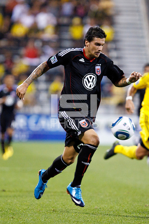 26 JUNE 2010:  Santino Quaranta #25 of DC United during MLS soccer game between DC United vs Columbus Crew at Crew Stadium in Columbus, Ohio on May 29, 2010. The Crew defeated DC United 2-0.
