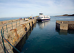 Ferry at quayside Island of Herm,Channel Islands, Great Britain