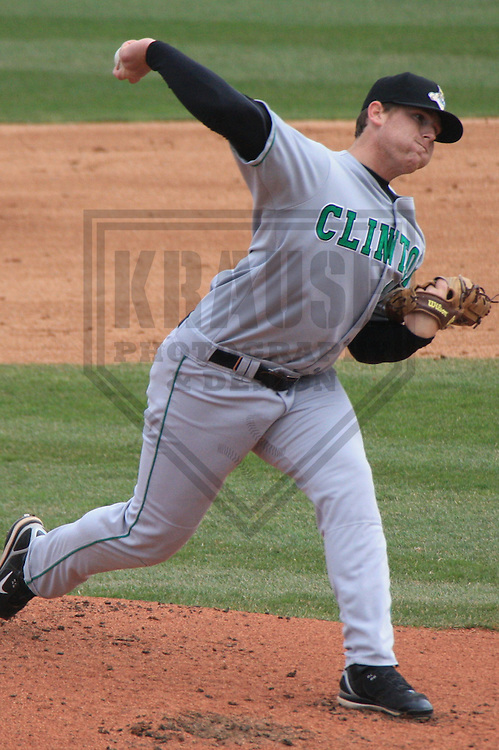 APPLETON - APRIL 2010: Taylor Stanton of the Clinton LumberKings, Class-A affiliate of the Seattle Mariners, in action during a game on April 12, 2010 at Fox Cities Stadium in Appleton, Wisconsin. (Photo by Brad Krause)