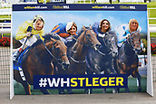 15th September 2017, Doncaster Racecourse, Doncaster, England; The William Hill St Ledger Festival, Gentleman's Day; Four ladies pose for a photo