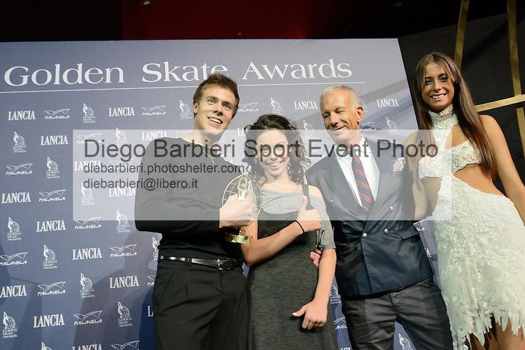 20/10/2012 - Grandi nomi del pattinaggio di figura su ghiaccio, si esibiscono per il Golden Skate 2012 al Palavela di Torino, il 20 ottobre 2012.<br /> <br /> Elena Ilinykh - Nikita Katsalapov, Guido Bagatta
