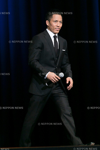 Japanese Judo Gold Medalist Tadahiro Nomura attends the Japanese premiere for the film John Wick on September 30, 2015, Tokyo, Japan. The movie will be released in Japanese theatres on October 16. (Photo by Rodrigo Reyes Marin/AFLO)