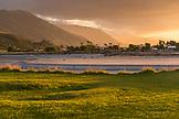 NEW ZEALAND, West Coast, Sunset over the Coastal Mountains, Ben M Thomas