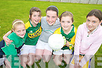 ON THE BALL: Practicing their football skills at the Na Gaeil summer camp last Thursday, l-r: Fiona Kavanagh, Ciara Horgan, Aoife Cahill, Alison Moriarty, Rhian Ni? Shu?illeabha?in.   Copyright Kerry's Eye 2008