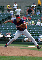 July 14, 2003:  Pitcher Bryan Hebson of the Pawtucket Red Sox, Class-AAA affiliate of the Boston Red Sox, during a International League game at Frontier Field in Rochester, NY.  Photo by:  Mike Janes/Four Seam Images