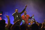 MIAMI BEACH, FL - JUNE 20: Rapper NAV aka Navraj Goraya and Travmbb (L) perform during 'The Bad Habits Tour' at Fillmore Miami Beach at the Jackie Gleason Theater  on June 20, 2019 in Miami Beach, Florida. ( Photo by Johnny Louis / jlnphotography.com )