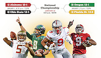 2014 College football championship final four brackets. (Columbus Dispatch)