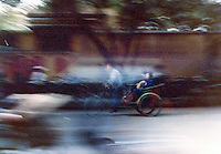 Three wheeled transport.Pictures taken in Canton China in 1977 at the time of the cultural revolution.