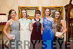 Enjoying a great time at the Milltown Presentation Debs at Ballyroe Heights Hotel on Tuesday were  l-r Amy Cahill, Claire Riordan, Siobhan Ladden, Sarah Jennings and Sarah Sayers.