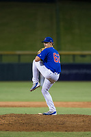 AZL Cubs relief pitcher Mitch Stophel (62) delivers a pitch to the plate against the AZL Diamondbacks on August 11, 2017 at Sloan Park in Mesa, Arizona. AZL Cubs defeated the AZL Diamondbacks 7-3. (Zachary Lucy/Four Seam Images)
