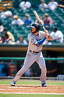 Biloxi Shuckers third baseman Lucas Erceg (17) at bat during a game against the Montgomery Biscuits on May 8, 2018 at Montgomery Riverwalk Stadium in Montgomery, Alabama.  Montgomery defeated Biloxi 10-5.  (Mike Janes/Four Seam Images)