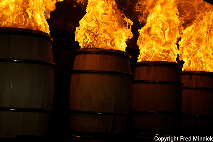 Established in 1945, the Brown-Forman Cooperage is in Louisville, Ky., and supplies charred oak barrels for Woodford Reserve, Old Forester and Jack Daniels.