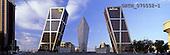 Tom Mackie, LANDSCAPES, panoramic, photos, Torres de Europa from Plaza Castilla, Madrid, Spain, GBTM070552-1,#L#