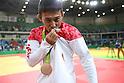 Naohisa Takato (JPN),<br /> AUGUST 6, 2016 - Judo : <br /> Men's -60kg Medal Ceremony <br /> at Carioca Arena 2 <br /> during the Rio 2016 Olympic Games in Rio de Janeiro, Brazil. <br /> (Photo by Koji Aoki/AFLO SPORT)