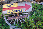 Sign at the Angora Lakes Resort, Eldorado National Forest, near South Lake Tahoe, California