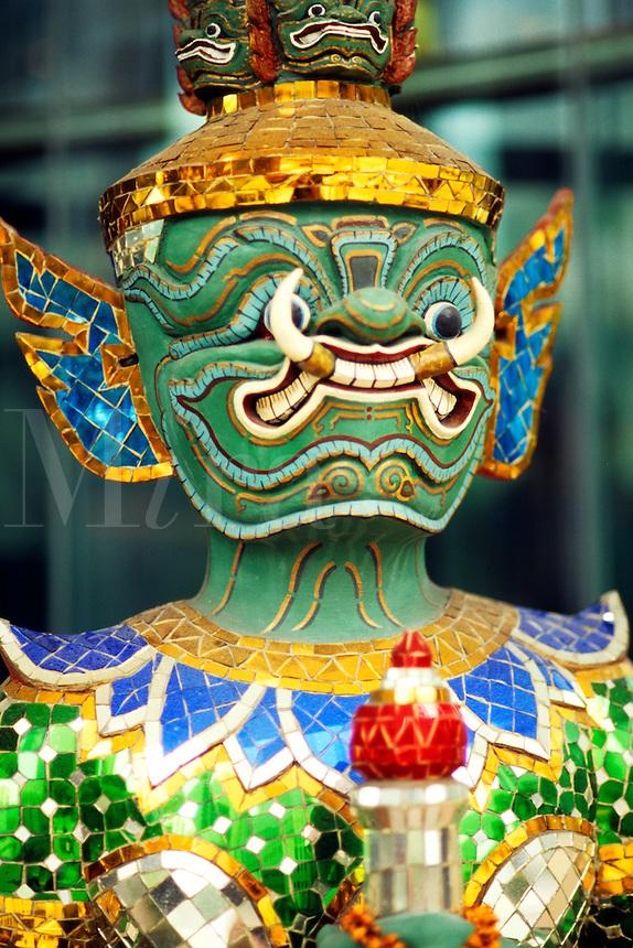 Art work sculpture of mask in Bangkok Thailand