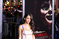HOLLYWOOD, LOS ANGELES, CA, USA - SEPTEMBER 29: Melanie Iglesias arrives at the Los Angeles Premiere Of New Line Cinema's 'Annabelle' held at the TCL Chinese Theatre on September 29, 2014 in Hollywood, Los Angeles, California, United States. (Photo by Xavier Collin/Celebrity Monitor)