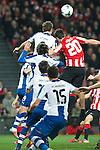 BILBAO. ESPA&Ntilde;A. FUTBOL.<br /> Partido de la Liga BBVA entre Athletic Club y Espanyol; a 16-02-14. <br /> En la imagen :<br /> 8Christian Stuani (Espanyol Barcelona)<br /> 20Aritz Aduriz (Athletic Bilbao)<br /> PPHOTOCALL3000 / RME