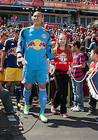 April 27, 2013: New York Red Bulls goalkeeper Luis Robles #31leads the team onto the pitch in a game between Toronto FC and the New York Red Bulls at BMO Field  in Toronto, Ontario Canada..The New York Red Bulls won 2-1.