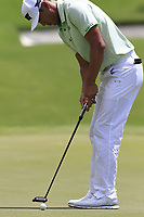 James Hahn (USA) putts on the 1st green during Saturday's Round 3 of the 2017 PGA Championship held at Quail Hollow Golf Club, Charlotte, North Carolina, USA. 12th August 2017.<br /> Picture: Eoin Clarke | Golffile<br /> <br /> <br /> All photos usage must carry mandatory copyright credit (&copy; Golffile | Eoin Clarke)