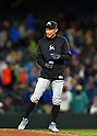 Ichiro Suzuki (Marlins),<br /> APRIL 18, 2017 - MLB :<br /> Ichiro Suzuki of the Miami Marlins before the Major League Baseball game against the Seattle Mariners at Safeco Field in Seattle, Washington, United States. (Photo by AFLO)