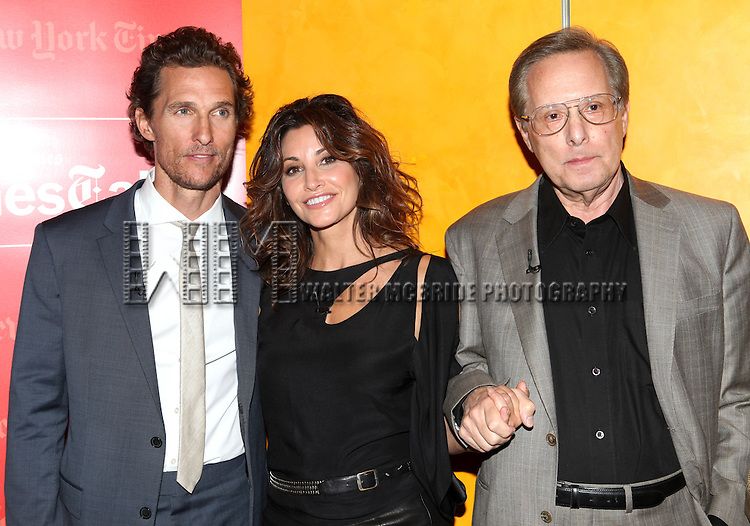 Matthew McConaughey, Gina Gershon & William Friekin backstage at 'TimesTalks: Stage To Screen' with David CarrNew York City on 7/24/2012.