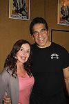 General Hospital's Jackie Zeman poses with the Hulk's Lou Ferrigno (and The Apprentice) at Chiller Theatre's Spring Spooktacular on the weekend of April 27-29 at the Hilton Parsippany in Parsippany, New Jersey. (Photo by Sue Coflin/Max Photos)