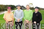 JD Guiney(2nd left) with James Lavery, Mick (sargent in ballybunion) and Greg Ryan from Ballybunion Golf Club who is moving to Orlando to take up professional golf, pictured at the IGTOA golf classic is Adare Manor on Monday.