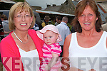 Emma and Catherine Goggin with Carmel Nolan from causeway, take time for a photo at Ballyduff horse fair on Sunday...   Copyright Kerry's Eye 2008