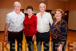 Pictured at the fund raising Dance in the Ring of Kerry Hotel on Saturday night in aid of CUH Cancer Treatment Unit were l-r; John & Agnes O'Sullivan with Mikey Joe O'Connell & Geraldine Finucane.