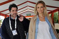 Adriana Karembeu and boyfriend André Ohanian at Monte-Carlo Rolex Masters
