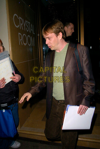 "ADAM WOODYAT .The ""Dr. Who"" series 3 TV premiere, Mayfair Hotel, London, UK..March 21st, 2007.doctor half length brown suit .CAP/CAN.©Can Nguyen/Capital Pictures"