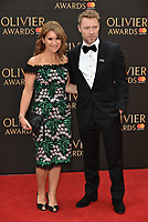 Harriet Scott and Ronan Keating<br /> The Olivier Awards 2018 , arrivals at The Royal Albert Hall, London, UK -on April 08, 2018.<br /> CAP/PL<br /> &copy;Phil Loftus/Capital Pictures