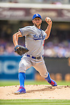23 June 2013: Los Angeles Dodgers pitcher Chris Capuano on the mound against the San Diego Padres at Petco Park in San Diego, California. The Dodgers defeated the Padres 3-1, splitting their 4-game Divisional Series at 2-2. Mandatory Credit: Ed Wolfstein Photo *** RAW (NEF) Image File Available ***