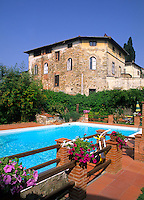 Beautiful villa at Hotel Greve and vineyard in romantic Tuscany in Greve in Chianti Ital
