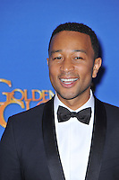 John Legend at the 72nd Annual Golden Globe Awards at the Beverly Hilton Hotel, Beverly Hills.<br /> January 11, 2015  Beverly Hills, CA<br /> Picture: Paul Smith / Featureflash