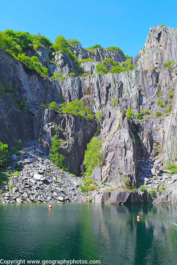 Vivian slate quarry, Dinorwic slate quarries, Llanberis, Gwynedd, Snowdonia, north Wales, UK
