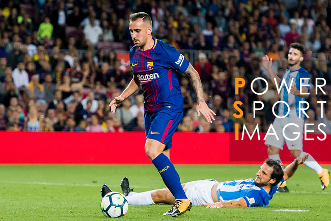 Francisco Alcacer Garcia, Paco Alcacer, of FC Barcelona in action during the La Liga 2017-18 match between FC Barcelona and Malaga CF at Camp Nou on 21 October 2017 in Barcelona, Spain. Photo by Vicens Gimenez / Power Sport Images