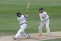 Keshav Maharaj hits 6 runs for Yorkshire during Essex CCC vs Yorkshire CCC, Specsavers County Championship Division 1 Cricket at The Cloudfm County Ground on 9th July 2019