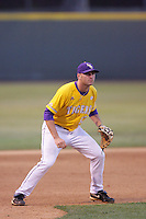 June 5, 2010: Alex Edward of LSU during NCAA Regional game against UCLA at Jackie Robinson Stadium in Los Angeles,CA.  Photo by Larry Goren/Four Seam Images