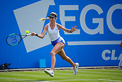 June 18th 2017, Edgbaston Priory Club; Tennis Tournament; Aegon Classic Birmingham; Sunday Qualifiers;  Katie Boulter plays a running forehand against Sachia Vickery