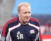 The New England Revolution assistant coach, Stephen Myles.  The New England Revolution drew FC Dallas 1-1, at Gillette Stadium on May 1, 2010