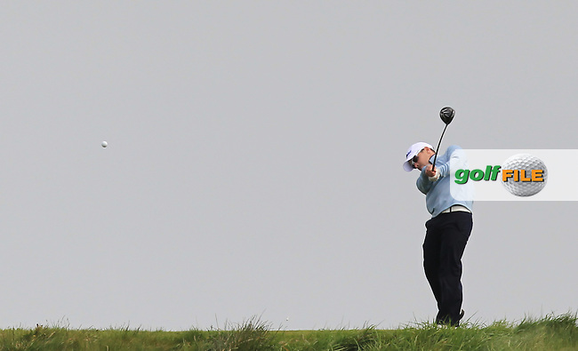 Daniel Holland (Castle) on the 14th tee during Round 2 of the Flogas Irish Amateur Open Championship at Royal Dublin on Friday 6th May 2016.<br /> Picture:  Thos Caffrey / www.golffile.ie