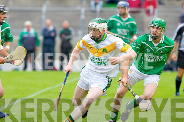 Ballyduff's Paul Costello and Kilmoyley's Daniel Collins.