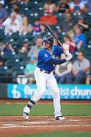 Corpus Christi Hooks center fielder Derek Fisher (22) at bat during a game against the Frisco RoughRiders on April 23, 2016 at Whataburger Field in Corpus Christi, Texas.  Corpus Christi defeated Frisco 3-2.  (Mike Janes/Four Seam Images)