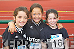 Listowel Girls Cliodhna Pierce, Amy Mason and Hannah Healy pictured at the Kerry Community Games finals at Castleisland on Saturday were